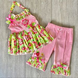 Handmade Strewberry Shortcake Outfit Set 2/3T Girl